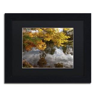 Kurt Shaffer 'Kendal Lake Autumn' Black Framed Canvas Wall Art