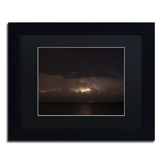 Kurt Shaffer 'Big Dipper Thunderstorm' Black Framed Canvas Wall Art
