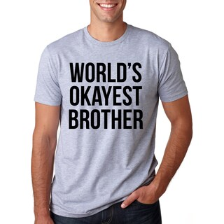 Men's Worlds Okayest Brother Cotton T-shirt