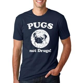 Men's Pugs Not Drugs Cotton T-shirt
