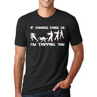 Men's If Zombies Chase Us I'm Tripping You Cotton T-shirt