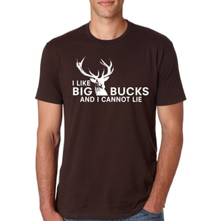 Men's I Like Big Bucks Funny Hunting Cotton T-shirt