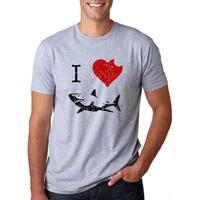 4cb3c0ac Shop Women's I Love Sharks T Shirt Classic Shark Bite Shirt Shark ...