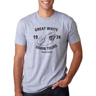 Men's Amity Island Great White Shark Tours Vintage Cotton T-shirt