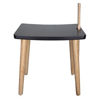 Shogun Rectangular Solid Rubber Wood Shoe Stool with Shoe Horn
