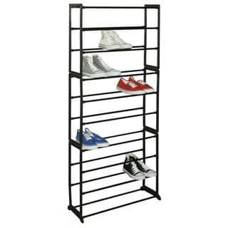 Sunbeam 30-pair Black Shoe Rack