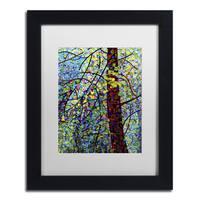 Mandy Budan 'Pine Sprites' Black Framed Canvas Art