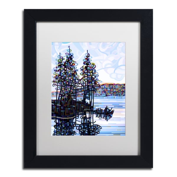 Mandy Budan 'Haliburton Morning' Black Framed Canvas Art