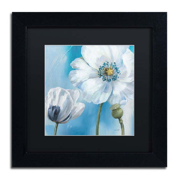 Lisa Audit 'Blue Dance III' Framed Canvas Wall Art