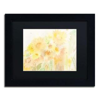 Sheila Golden 'Amid Sunflowers' Framed Canvas Wall Art