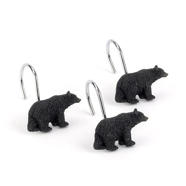 Black Bear Lodge Shower Curtain Hooks (Pack of 12)
