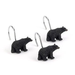 Black Bear Lodge Shower Curtain Hooks (Pack of 12)
