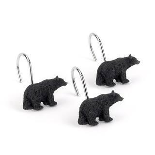Black Bear Lodge Shower Curtain Hooks Pack Of 12