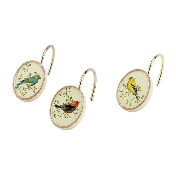 Gilded Birds Shower Hooks