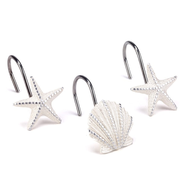 Avanti Sequin Shell Shower Curtain Hooks