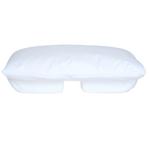Better Sleep Pillow Memory Foam - Patented Arm-Tunnel Design - Perfect Side and Stomach Sleeper Pillow - Bed Pillow, White