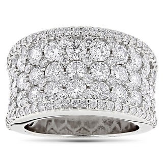 Luxurman 14k Gold 3 7/8ct TDW Pave Diamond Iced Out Ring
