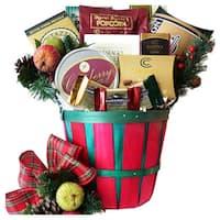 Gourmet Greetings Christmas Holiday Gift Basket with Smoked Salmon