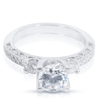 Tacori Platinum 3/4ct TDW Cubic Zirconia and Diamond Semi-Mount Engagement Ring (G-H, VS1-VS2)
