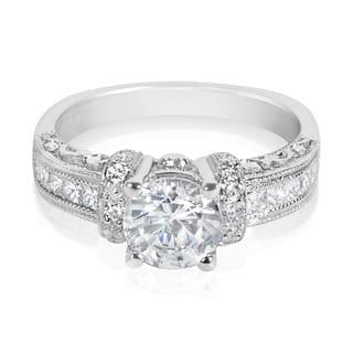 Tacori Platinum HT 2196 3/8ct TDW Diamond Round Center Engagement Ring Setting|https://ak1.ostkcdn.com/images/products/10316181/P17427898.jpg?impolicy=medium