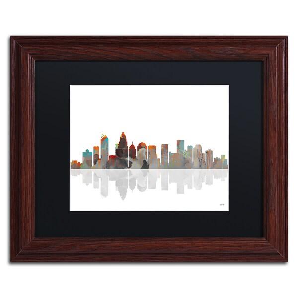 Marlene Watson 'Buffalo New York Skyline' Wood Framed Canvas Art