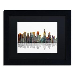 Marlene Watson 'New York New York Skyline' Black Framed Canvas Art