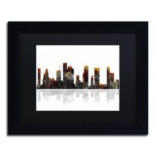 Marlene Watson 'Columbus Ohio Skyline' Black Framed Canvas Art