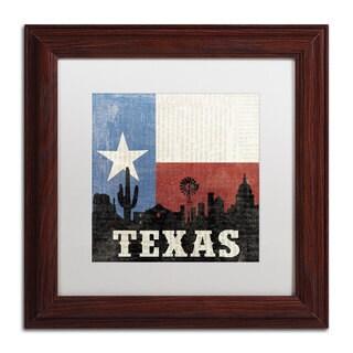 Moira Hershey 'Texas' Wood Framed Canvas Art