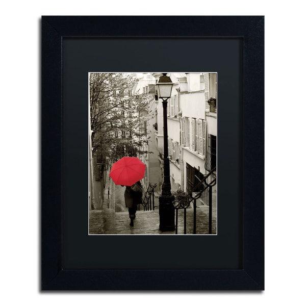 Sue Schlabach 'Paris Stroll II' Framed Canvas Wall Art