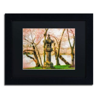 Lois Bryan 'Japanese Stone Lantern' Framed Canvas Wall Art