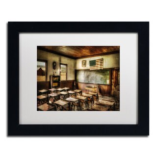 Lois Bryan 'One Room School' Black Framed Canvas Art