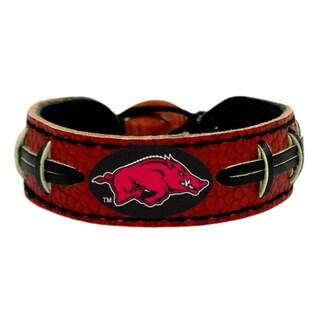 Arkansas Razorbacks Team Color Football Bracelet