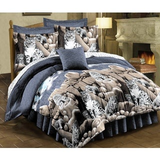 Snow Leopard 8-piece Bed in a Bag Set