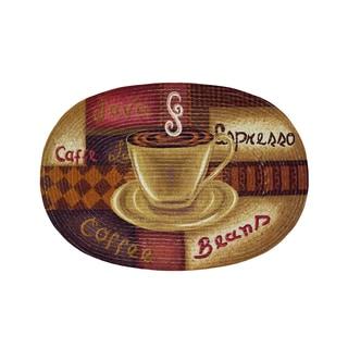 "Coffee print Braided Accent Rug (20"" x 30"")"