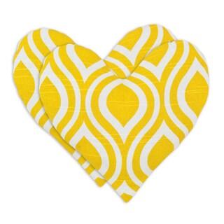 Nichole Corn Heart Shaped Pillows (Set of 2)