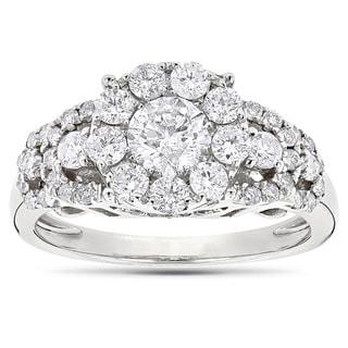 Luxurman 14k Gold 1 5/8ct TDW Diamodn Designer Engagement Ring (G-H, SI1-SI2)