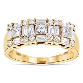 Luxurman 14k Gold 1 1/4ct TDW Diamond Wedding Band (G-H, VS1-VS2)