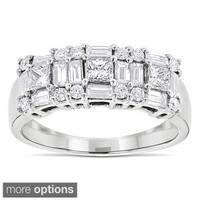 Luxurman 14k Gold 1 1/2ct TDW Diamond Wedding Band