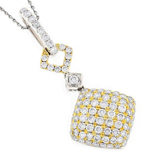 Luxurman 14k Gold 2 1/10ct TDW Diamond Designer Pendant