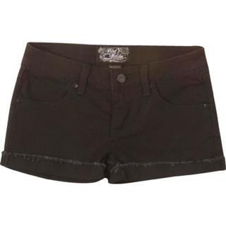 Girls' Metal Mulisha Lover Black Denim Shorts