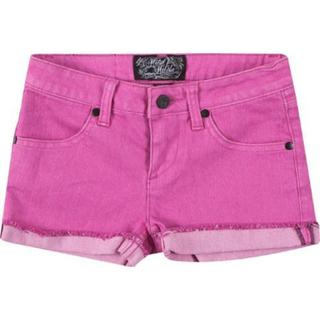Girls' Metal Mulisha Lover Denim Shorts Hot Pink