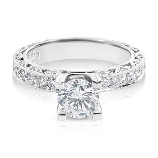 Tacori Platinum 1 ctw Diamond Round Center Engagement Ring Setting (G-H, VS1-VS2)