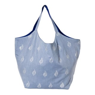 Grey Cotton Duchess Tote Bag (India)