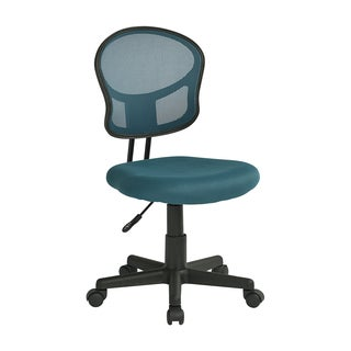 OSP Home Furnishings Blue Mesh Task Chair