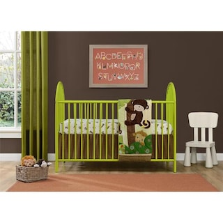 shop ameriwood home adjustable lime green metal crib by cosco on