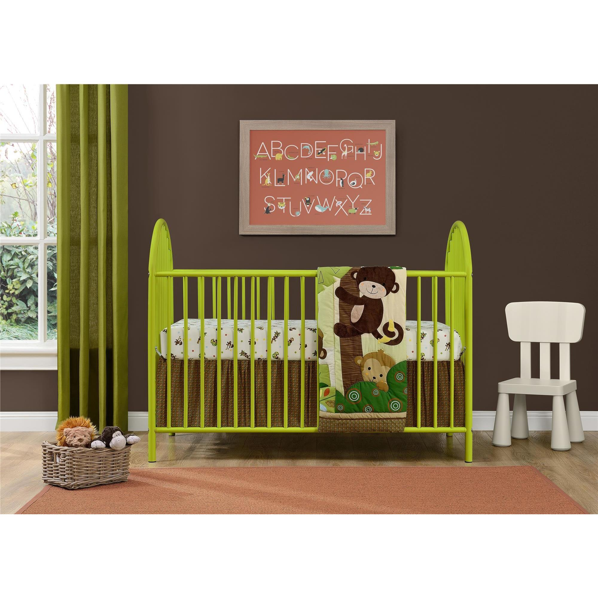 Ameriwood Home Adjustable Lime Green Metal Crib by Cosco ...