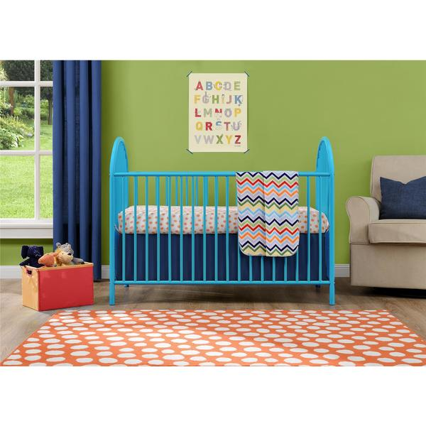 Shop Ameriwood Home Adjustable Blue Metal Crib By Cosco