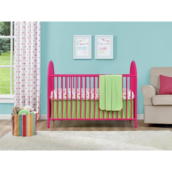 Ameriwood Home Adjustable Pink Metal Crib by Cosco - Ameriwood Home Adjustable Pink Metal Crib By Cosco - Free Shipping