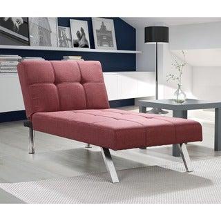 DHP Layton Marsala Linen Chaise