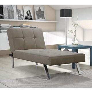 DHP Layton Tan Linen Chaise